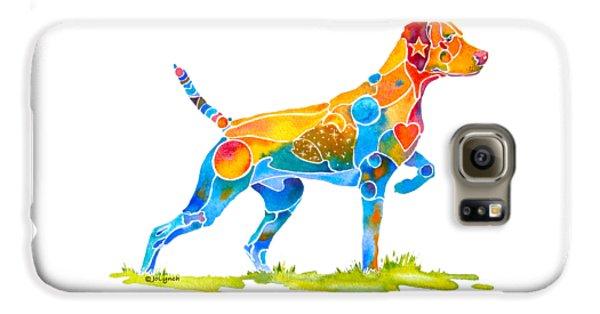 Prairie Dog Galaxy S6 Case - Vizsla On Point by Jo Lynch