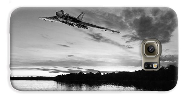 Galaxy S6 Case featuring the digital art Vulcan Low Over A Sunset Lake Sunset Lake Bw by Gary Eason
