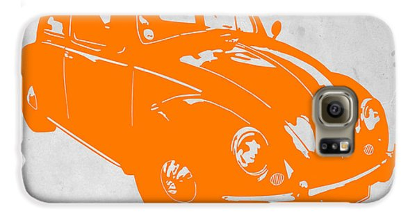 Beetle Galaxy S6 Case - Vw Beetle Orange by Naxart Studio