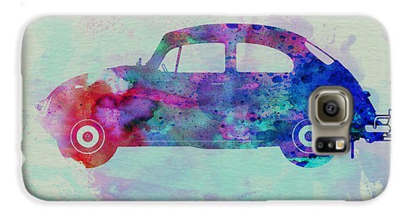 Beetle Galaxy S6 Case - Vw Beetle Watercolor 1 by Naxart Studio