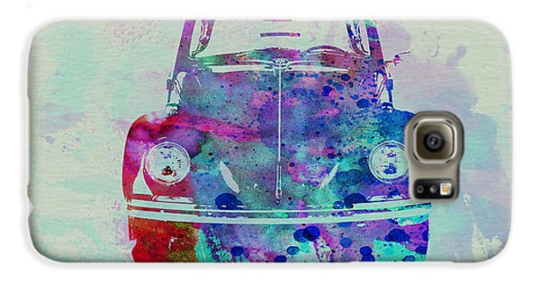 Beetle Galaxy S6 Case - Vw Beetle Watercolor 2 by Naxart Studio