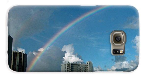 Galaxy S6 Case featuring the photograph Waikiki Rainbow by Anthony Baatz