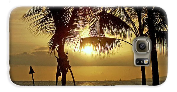Galaxy S6 Case featuring the photograph Waikiki Sunset by Anthony Baatz