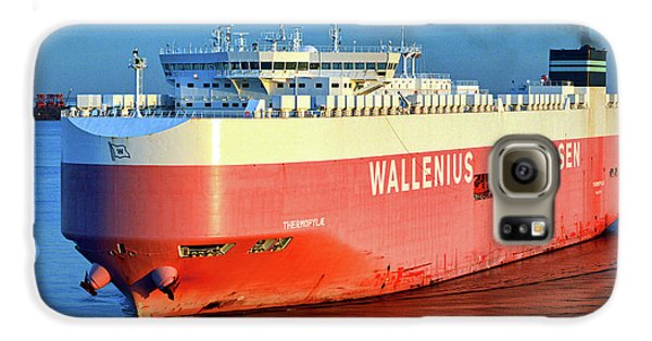Galaxy S6 Case featuring the photograph Wallenius Wilhelmsen Thermopylae 9702443 On The Patapsco River by Bill Swartwout Fine Art Photography
