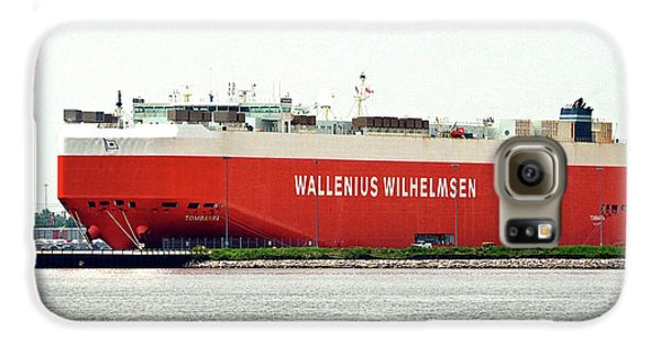Galaxy S6 Case featuring the photograph Wallenius Wilhelmsen Tombarra 9319753 At Curtis Bay by Bill Swartwout Fine Art Photography
