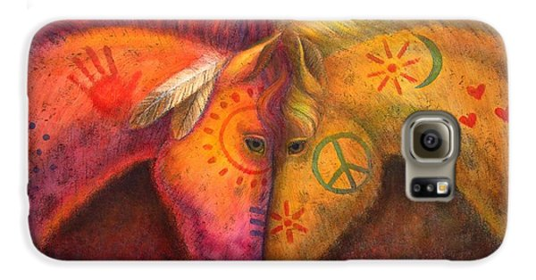 Horse Galaxy S6 Case - War Horse And Peace Horse by Sue Halstenberg