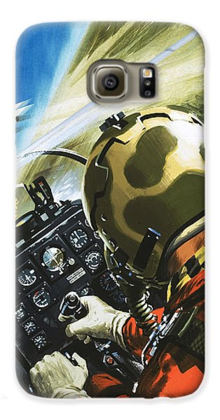 War In The Air Galaxy S6 Case by Wilf Hardy