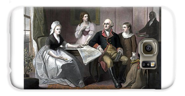 Washington And His Family Galaxy S6 Case by War Is Hell Store