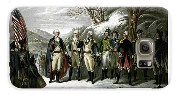 Washington And His Generals  Galaxy S6 Case by War Is Hell Store