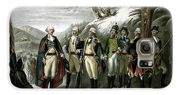George Washington Galaxy S6 Case - Washington And His Generals  by War Is Hell Store