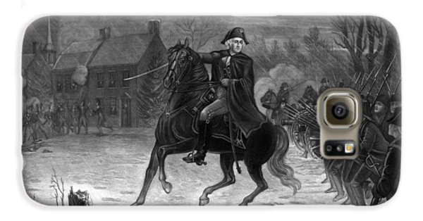 George Washington Galaxy S6 Case - Washington At The Battle Of Trenton by War Is Hell Store