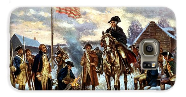 Washington At Valley Forge Galaxy S6 Case by War Is Hell Store