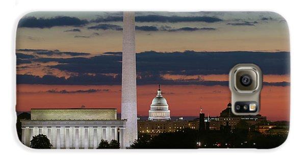 Washington D.c Galaxy S6 Case - Washington Dc Landmarks At Sunrise I by Clarence Holmes