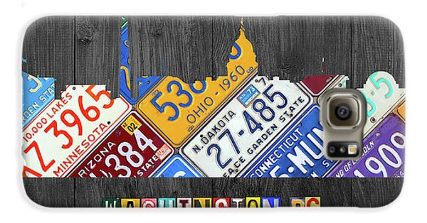 Washington Dc Skyline Recycled Vintage License Plate Art Galaxy S6 Case