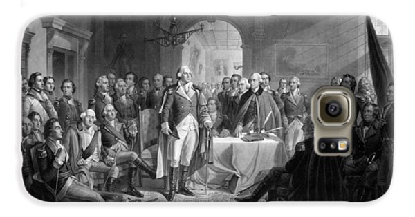 Washington Meeting His Generals Galaxy S6 Case by War Is Hell Store