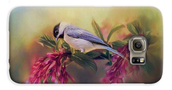 Watching Flowers Bloom Bird Art Galaxy S6 Case by Jai Johnson