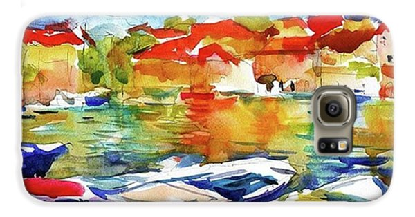 Galaxy S6 Case - Watercolor Boats By Svetlana Novikova ( by Svetlana Novikova