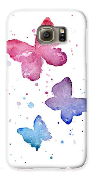 Watercolor Butterflies Galaxy S6 Case