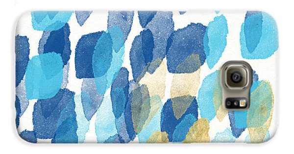 Waterfall- Abstract Art By Linda Woods Galaxy S6 Case by Linda Woods