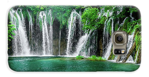 Waterfalls Panorama - Plitvice Lakes National Park Croatia Galaxy S6 Case