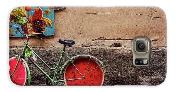 Watermelon Wheels Galaxy S6 Case by Happy Home Artistry