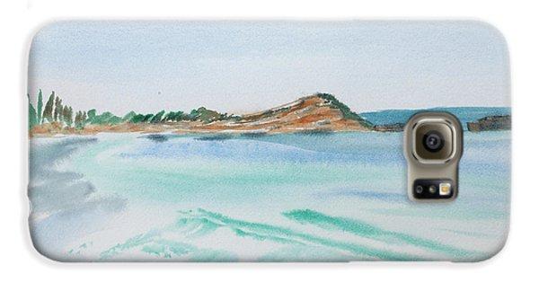 Waves Arriving Ashore In A Tasmanian East Coast Bay Galaxy S6 Case