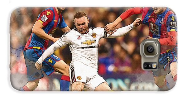 Wayne Rooney Shoots At Goal Galaxy S6 Case by Don Kuing