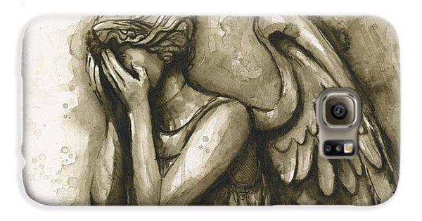 Doctor Galaxy S6 Case - Weeping Angel by Olga Shvartsur