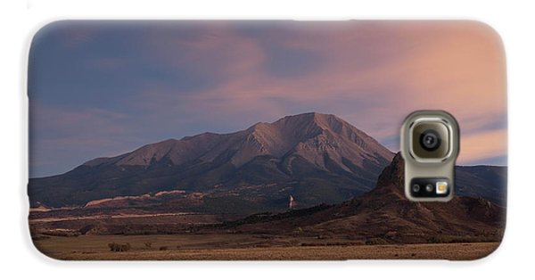 Galaxy S6 Case featuring the photograph West Spanish Peak Sunset by Aaron Spong