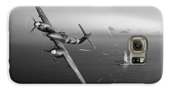 Galaxy S6 Case featuring the photograph Westland Whirlwind Attacking E-boats Black And White Version by Gary Eason