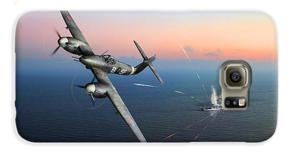 Galaxy S6 Case featuring the photograph Westland Whirlwind Attacking E-boats by Gary Eason