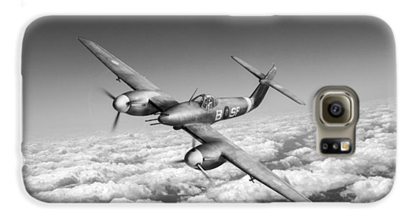 Galaxy S6 Case featuring the photograph Westland Whirlwind Portrait Black And White Version by Gary Eason