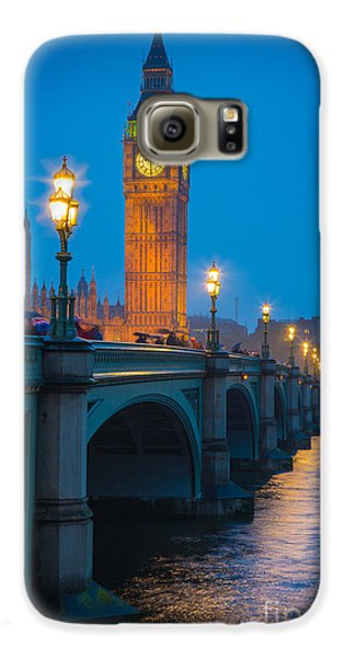 London Galaxy S6 Case - Westminster Bridge At Night by Inge Johnsson