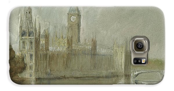Westminster Palace And Big Ben London Galaxy S6 Case by Juan Bosco