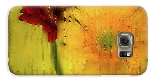 Wet Glass Flowers Galaxy S6 Case
