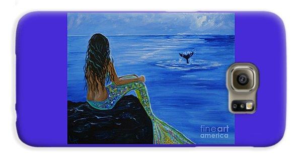 Whale Watcher Galaxy S6 Case by Leslie Allen
