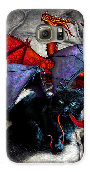 Dragon Galaxy S6 Case - What The Catabat Dragged In by Stanley Morrison