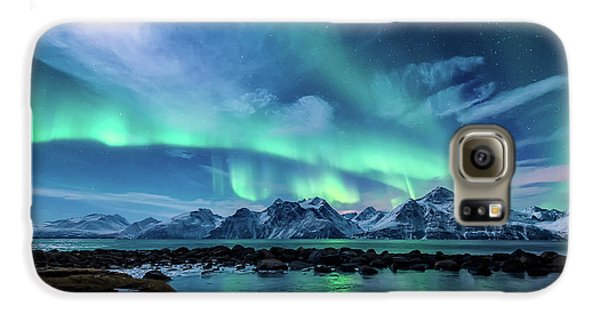 Mountain Galaxy S6 Case - When The Moon Shines by Tor-Ivar Naess