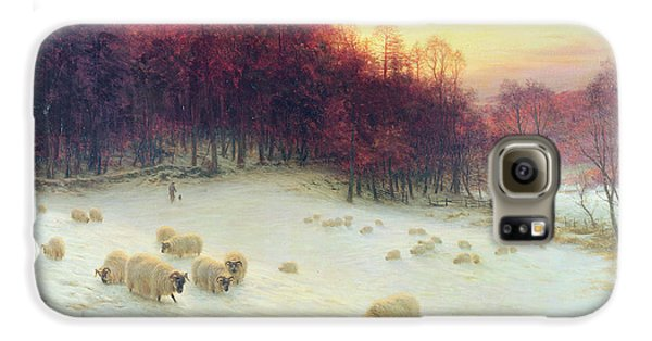 Sheep Galaxy S6 Case - When The West With Evening Glows by Joseph Farquharson
