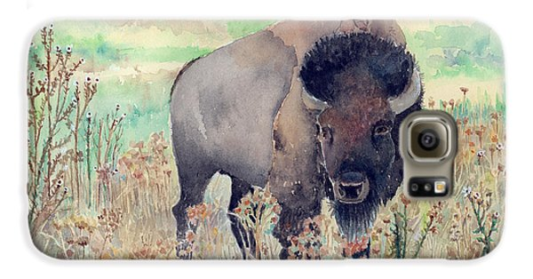Where The Buffalo Roams Galaxy S6 Case by Arline Wagner