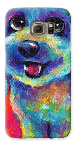 Whimsical Labradoodle Painting By Galaxy S6 Case