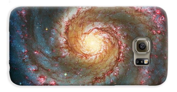 Space Galaxy S6 Case - Whirlpool Galaxy  by Jennifer Rondinelli Reilly - Fine Art Photography