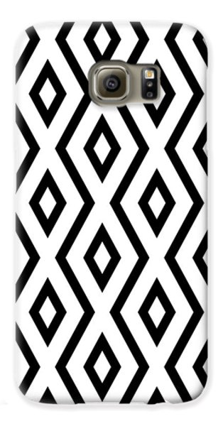 White And Black Pattern Galaxy S6 Case