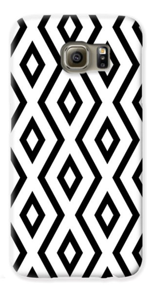 White And Black Pattern Galaxy S6 Case by Christina Rollo