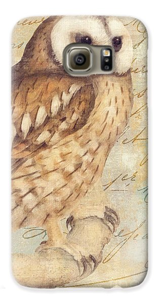 White Faced Owl Galaxy S6 Case by Mindy Sommers
