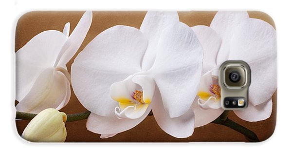 Orchid Galaxy S6 Case - White Orchid Flowers And Bud by Tom Mc Nemar