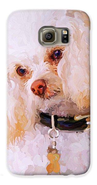 White Poodle Galaxy Case by Jai Johnson