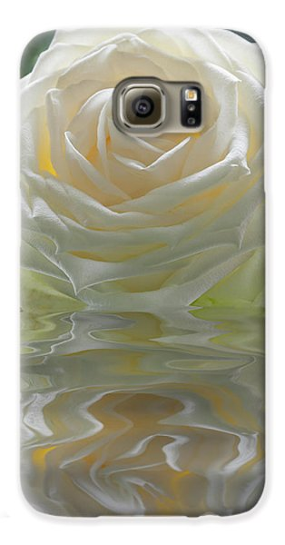 White Rose Reflection Galaxy S6 Case