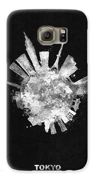 Tokyo Skyline Galaxy S6 Case - White Skyround / Skyline Art Of Tokyo, Japan by Inspirowl Design