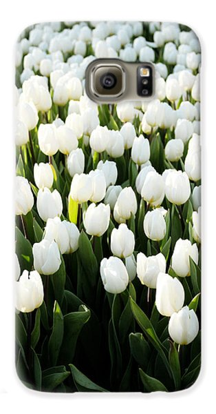 Tulip Galaxy S6 Case - White Tulips In The Garden by Linda Woods